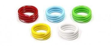 Spiral-Ringe  20mm weiss (10 Stück) 10 Stück   weiss