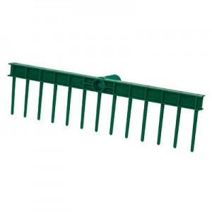 Kunststoffrechen grün