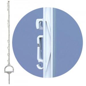 Kunststoffpfähle mit Steigbügeltritt 115 cm (20 Stück)