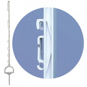 Kunststoffpfähle mit Steigbügeltritt 155 cm (20 Stück)