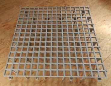 Bodengitterrost aus Kunststoff grau 50x50cm