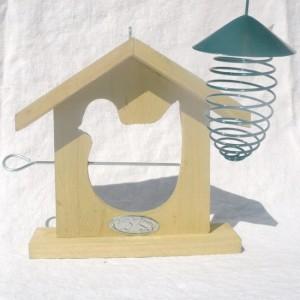 Futterfeder mit Dach für Meisenknödel