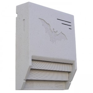 Fledermaus-Gebäudeflachkasten 1FTH lichtgrau