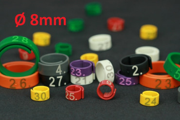 Flexi-Ringe Ø8mm 1-25 weiss | 1 bis 25