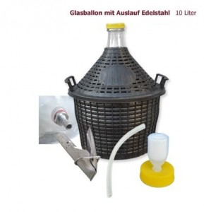 Glasballon 10 Liter mit Auslauf