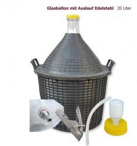 Glasballon 20 Liter mit Auslauf