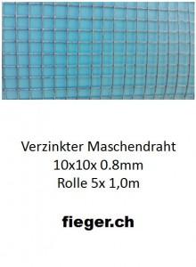 Volierendraht 10x10x0,80mm (1,0m x 5m)