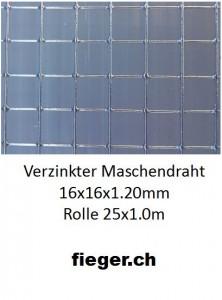Volierendraht 16x16x1,20mm (1,02m x 25m)