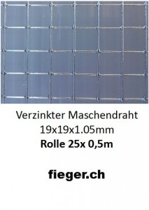 Volierendraht 19x19x1,05mm (0,50m x 25m)