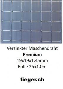 Premium Volierendraht 19x19x1,45mm (1,01m x 25m)