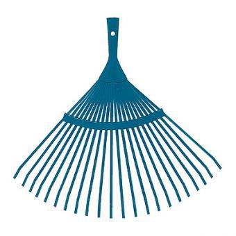 Metall-Rasenbesen flach