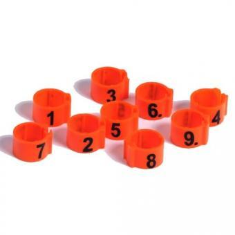 Clipsringe Ø12mm mit Nummerierung 1-25