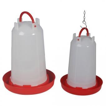 Kunststoff-Stülptränke mit Bajonettverschluss und Tragbügel 3l rot | 3 Liter