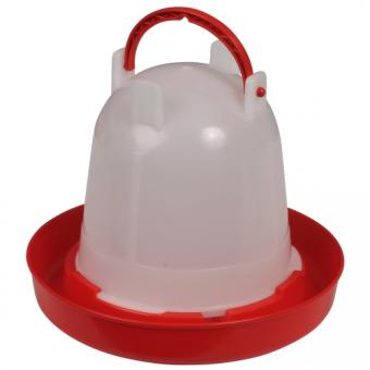 Kunststoff-Stülptränke mit Bajonettverschluss und Tragbügel 1,5l rot | 1.5 Liter