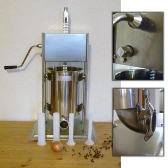 Wurstfüller / Wurstfüllmaschine 5l mit 2-Stufengetriebe