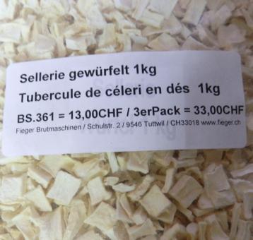 Sellerie gewürfelt / Tubercule de céleri en dés  3kg 3x 1kg