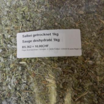 Salbei getrocknet / Sauge déshydraté 1kg