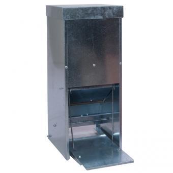 Futterautomat für Geflügel mit Trittklappe 15Liter