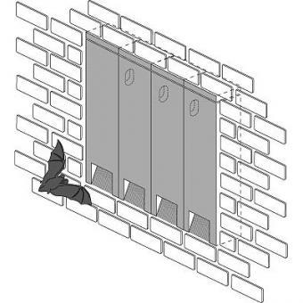 Fledermaus-Fassadenreihe 2FR