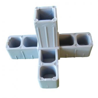 Verbinder für Vierkantrohr - T-Stück m. Abgang 20mm 1