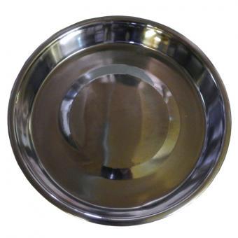 Edelstahlnapf für Futterwendeplatte 4cm tief