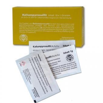 Kaliumpyrosulfit Schwefelpulver 10x1g-Beutel 10x1g