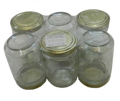 Einmachgläser 156 ml goldfarben 6Stück