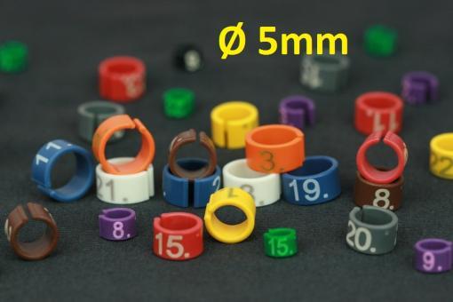 Easyflex-Ringe Ø5mm Nummeriert