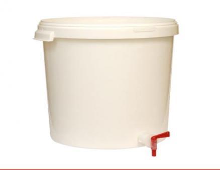 Gäreimer 20 Liter mit Ablasshahn und Deckel