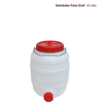 10l Graf Getränkefass weiss rund