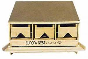Europa-Legenest mit 3 Legestellen, Oberteil 3er Oberteil